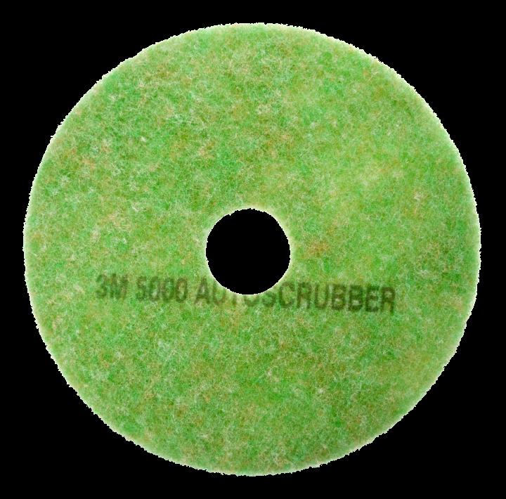 Scotch-Brite pad, orange/green