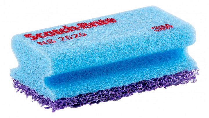 Scotch-Brite scouring pad with sponge, lilac