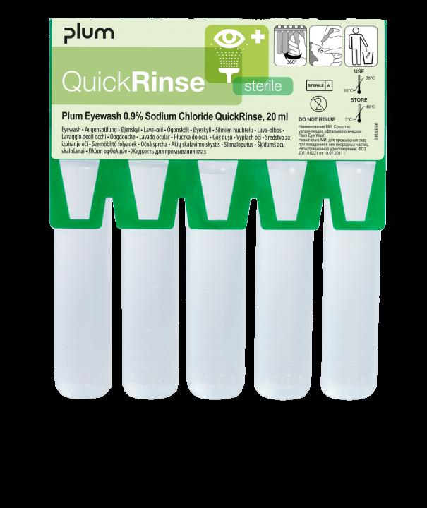 Plum QuickRinse ögonsköljampuller refill 5 st