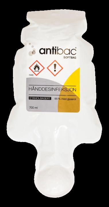 Antibac® Hånddesinfeksjon 85% gel softbag