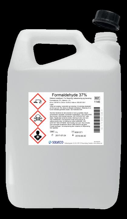 Formaldehyd 35%/konsentrert formalin 5 liter