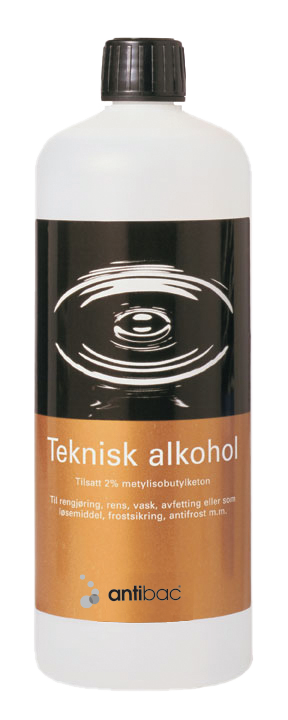 Teknisk alkohol 96% m/MIBK + MEK 1 liter