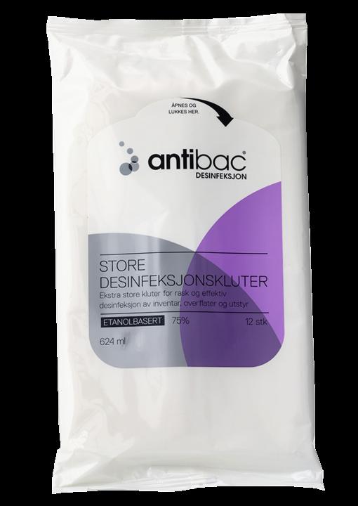 Antibac Stora Ytdesinfektionsdukar