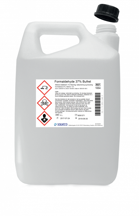 Formaldehyd 35% bufret/konsentrert formalin 5 liter
