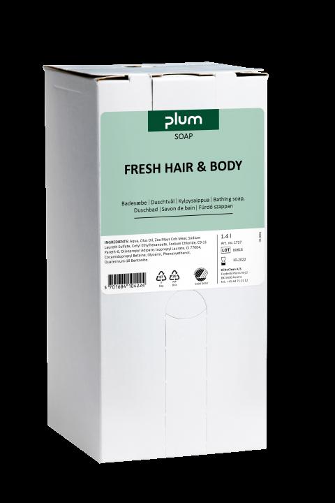 Plum Fresh Hair&Body såpe 1400 ml BIB