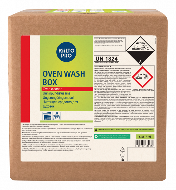 Kiilto Pro Oven wash box