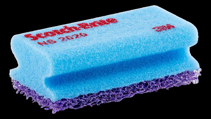 Scotch-Brite scouring pad with sponge, lilac
