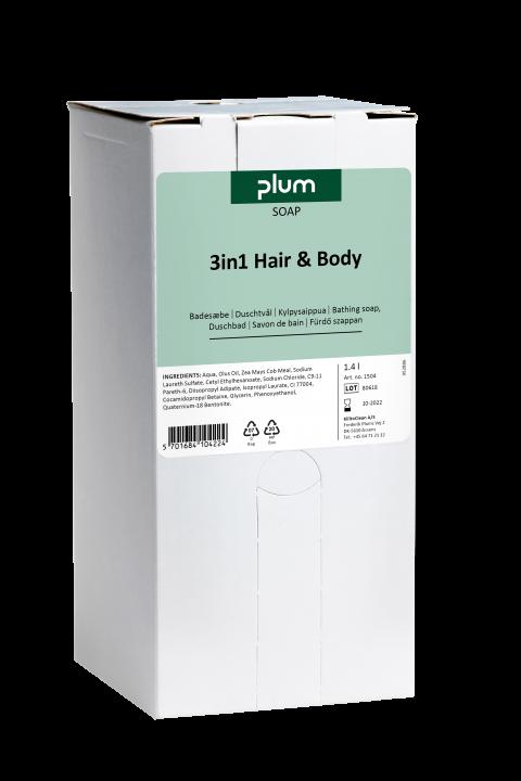 Plum 3in1 Hair&Body såpe 1400 ml BIB