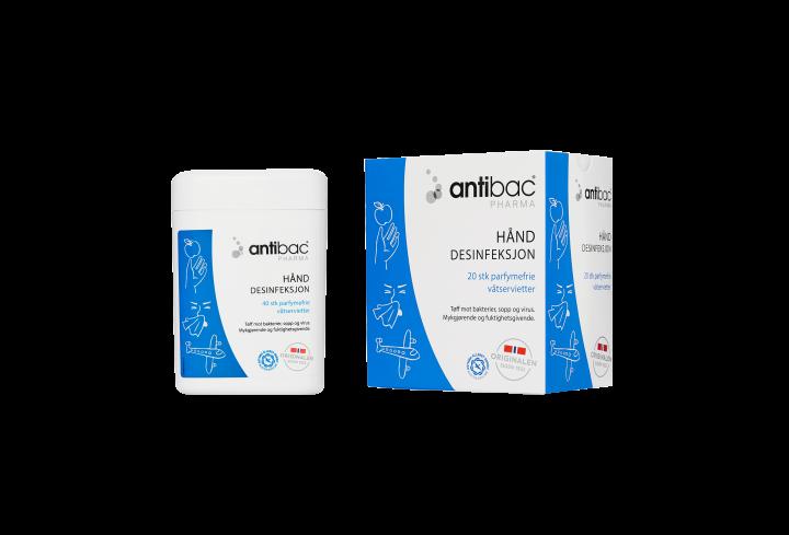 Antibac® Pharma Hånddesinfeksjon 85% servietter