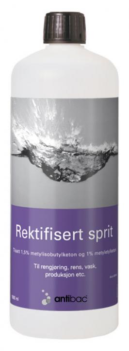 Rektifisert alkohol 96% m/MIBK + MEK 1 liter