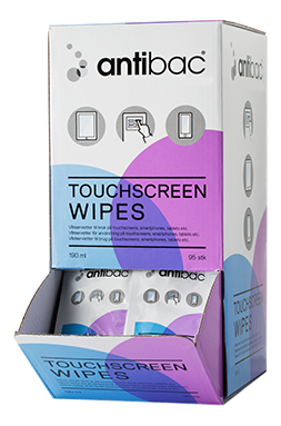 Antibac® Touchscreen wipes