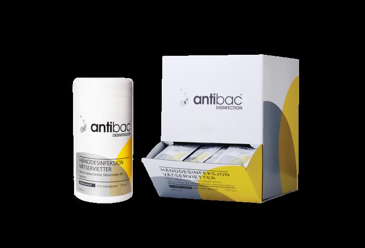 Antibac® Hånddesinfeksjon 85% servietter