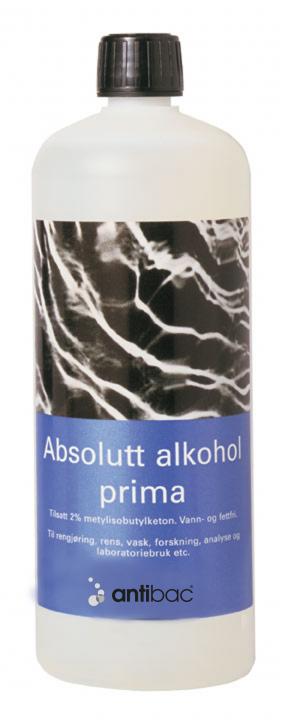 Absolutt alkohol prima 99,9% m/MIBK + MEK 1 liter