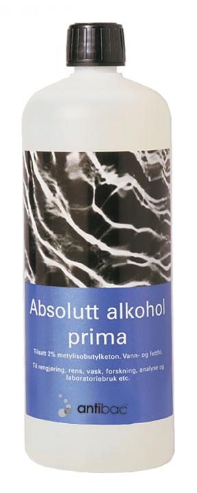 Absolutt alkohol prima 99,9% m/MIBK 1 liter